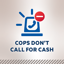 Cops Don't Call for Cash Logo